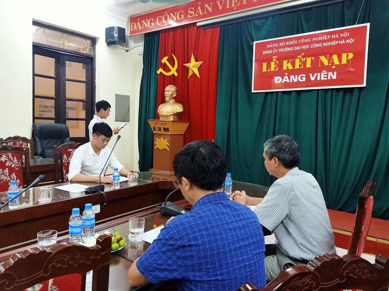 Lễ kết nạp Đảng viên mới của chi bộ TT Việt Nhật