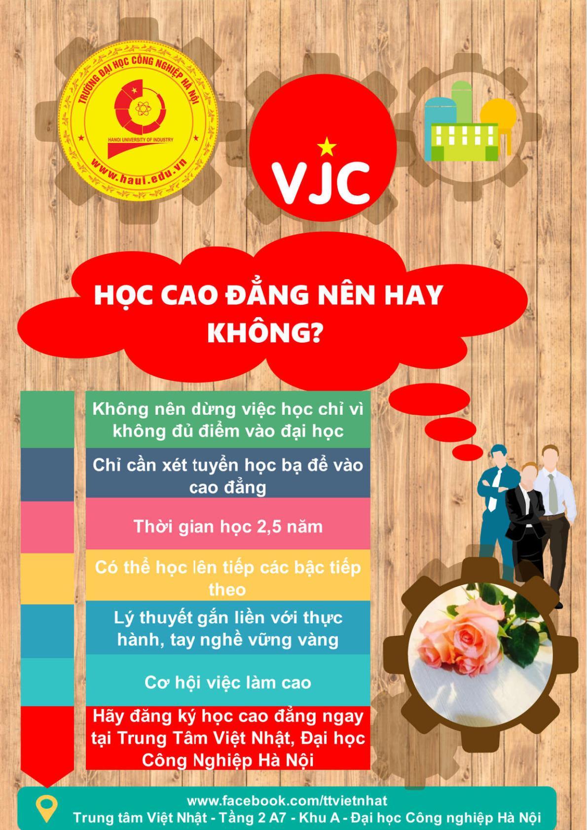 TT Việt Nhật thông báo tuyển sinh hệ cao đẳng năm 2019