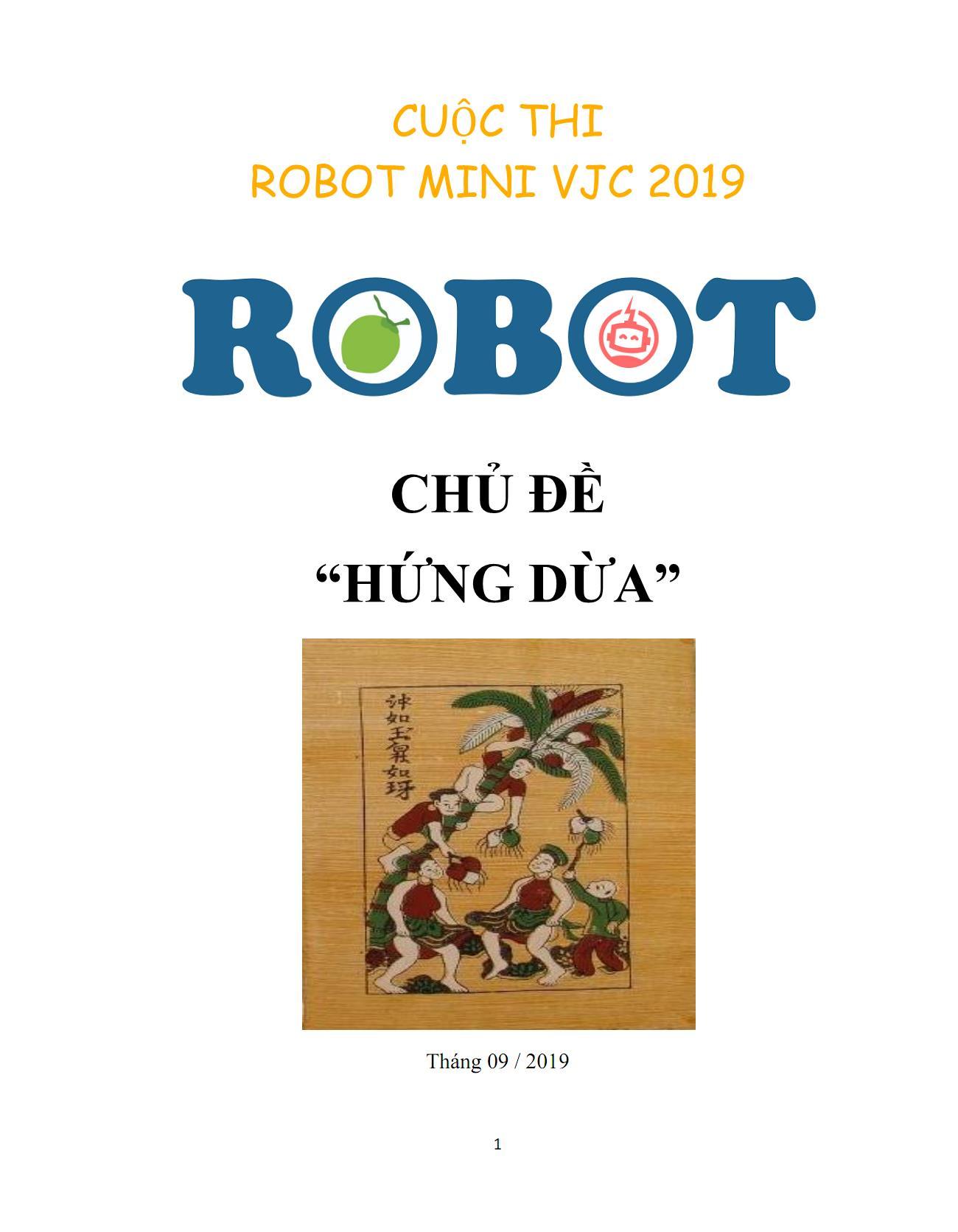 Liên chi đoàn TT Việt Nhật phát động sinh viên tham gia cuộc thi `Robot mini VJC 2019`