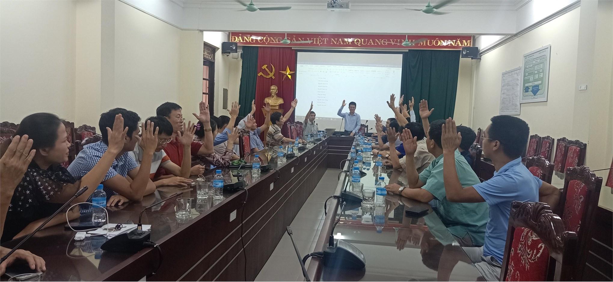 Hội nghị công chức viên chức năm học 2018 – 2019 của TT Việt Nhật
