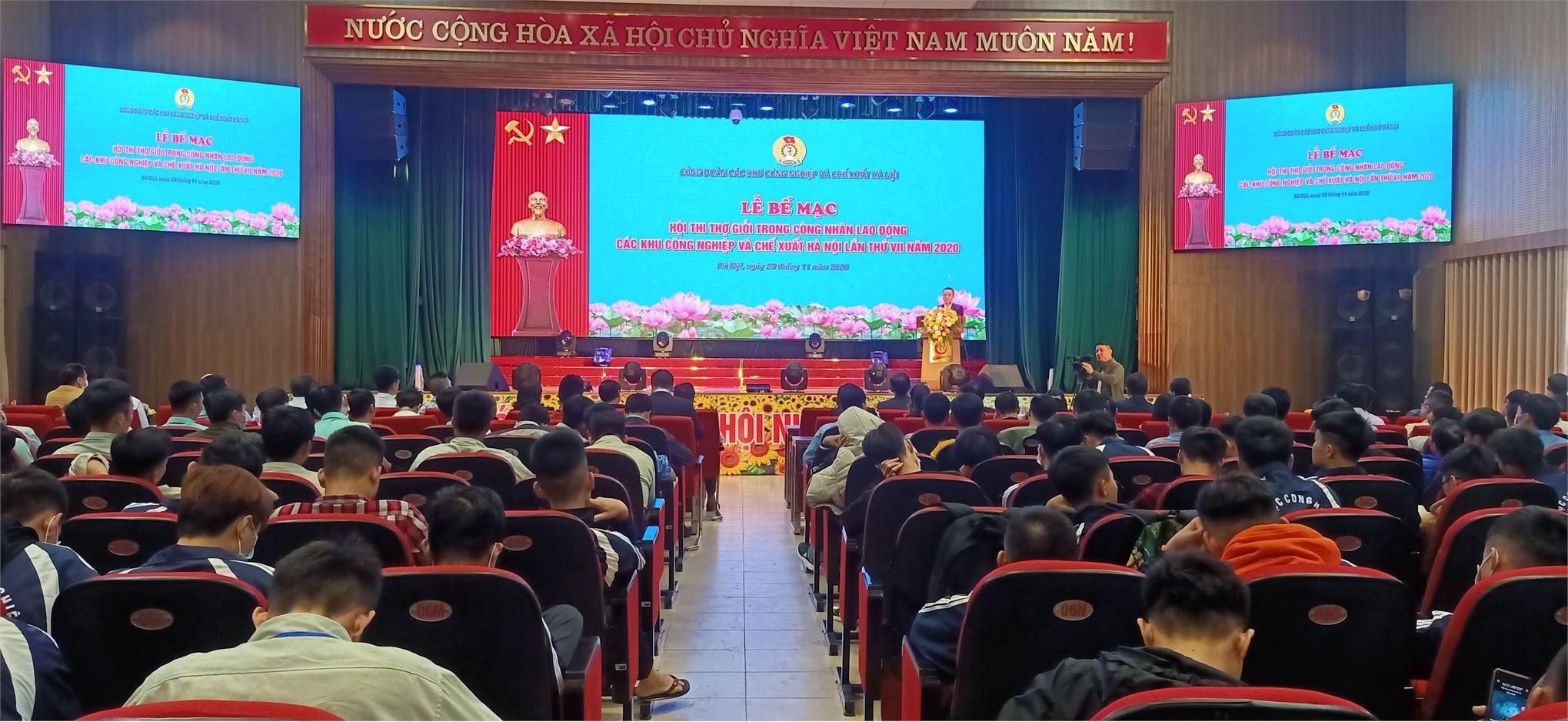 """Hội thi """"Thợ giỏi trong công nhân lao động các Khu công nghiệp và chế xuất Hà Nội lần thứ VII"""" tại trường Đại học Công nghiệp Hà Nội đã diễn ra thành công tốt đẹp"""
