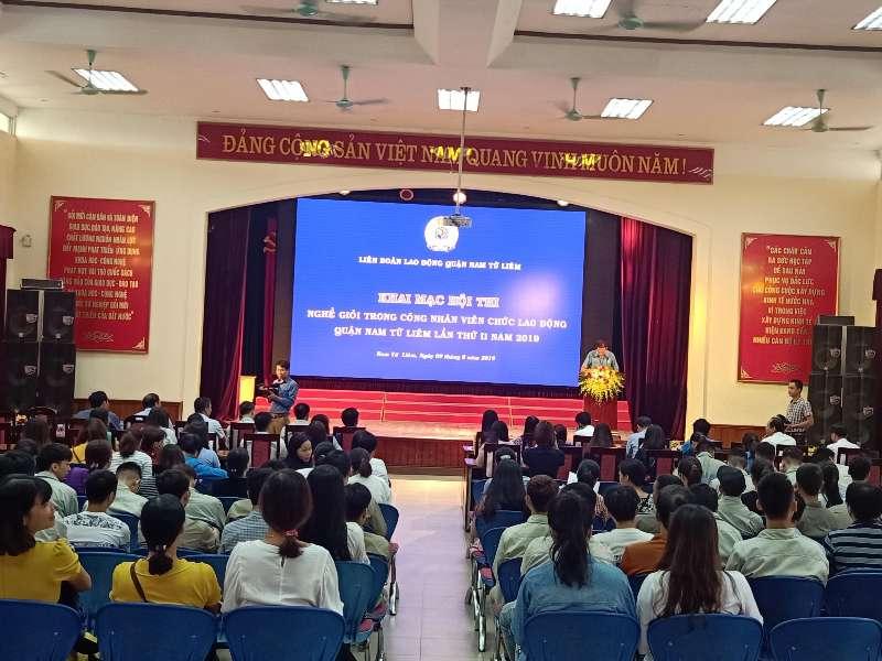 Hội thi nghề giỏi trong công nhân viên chức lao động Quận Nam Từ Liêm lần thứ II năm 2019