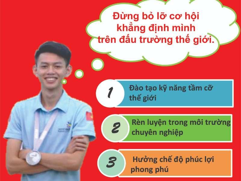 Thông báo tuyển dụng ứng viên tham dự kỳ thi tay nghề Thế giới 2021 của Công ty TNHH Denso Việt Nam