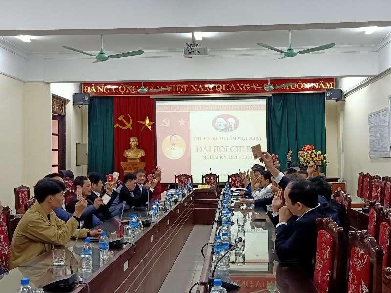 Đại hội chi bộ Trung tâm Việt – Nhật nhiệm kỳ 2020 – 2023