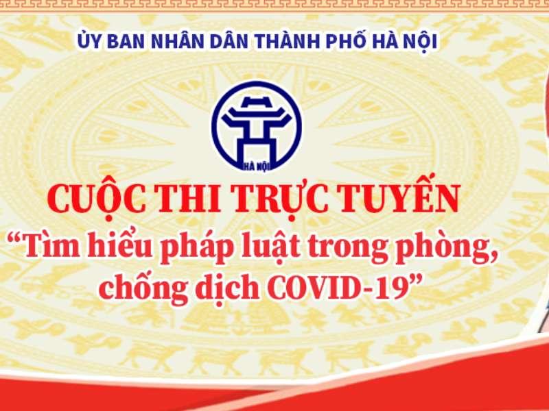 """Hướng dẫn sinh viên tham gia cuộc thi trực tuyến""""Tìm hiểu pháp luật trong phòng chống dịch Covid - 19"""" trên địa bàn phường Minh Khai"""